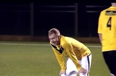 Paul Scholes scores a cracker from his own half in over-35s game